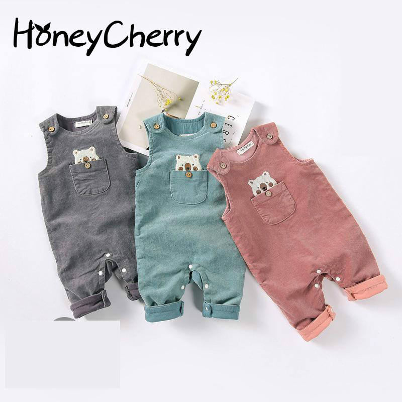 New winter Suspenders For 2019 Baby Jumpsuit Newborn Baby Clothes Baby Girl Romper Clothes For Newborns in Rompers from Mother Kids