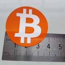 240 шт./лот, диаметр 4 см, наклейки с логотипом биткоина, самоклеющиеся этикетки с криптовалютой, артикул FS18