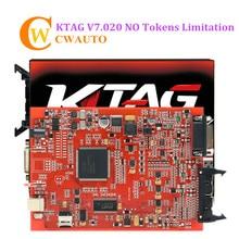 KTAG 7,020 красный pcb ECU программист K тег v7.020 V2.23 онлайн-версия без жетонов ограничения
