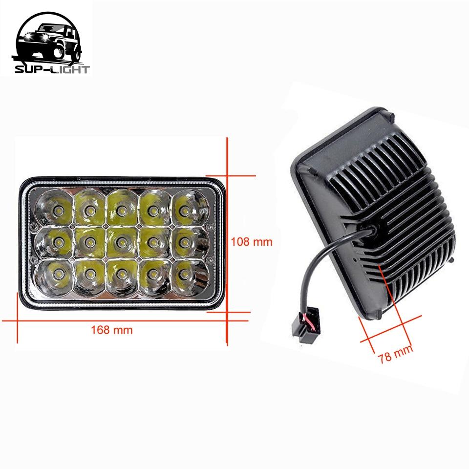 24pcs/ctn 5'' led headlight Rectangular 4x6 Inch 45W LED Sealed Beam on