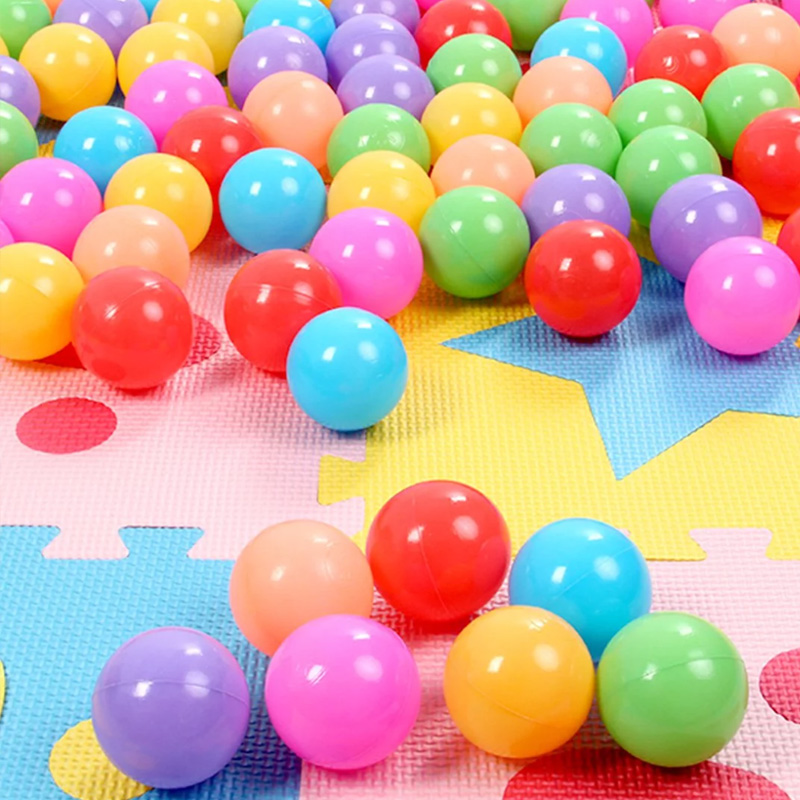 100pcs/lot Eco-Friendly Colorful Soft Plastic Water Pool Ocean Wave Balls Baby Funny Toys Stress Ball Outdoor Fun Sports
