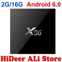 2GB 16GB Android 6.0 X96 Amlogic S905X Quad core Smart TV Box Wifi Kodi Full Loaded Marshmallow Media Player HDMI 2.0 4K Mini PC