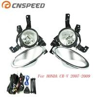 CNSPEED Fog Light For HONDA CRV CR V 2007 2008 2009 Fog Lamps Clear Lens Bumper