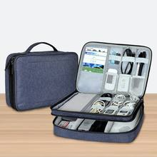 Waterproof Electronics Accessories Organizer Travel Storage Hand Bag Cable Gadget USB Drive Case Pouch Portable(China)