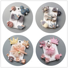 2019 NEW 5-6pcs/lot Kids Barrettes Hairpins flower girls hair bows children stars hair clips for girls children hair Accessories(China)