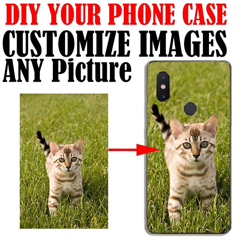 DIY Custom Print Phone Case Photo Back Covers Customized Transparent soft silicone for Xiaomi MI8