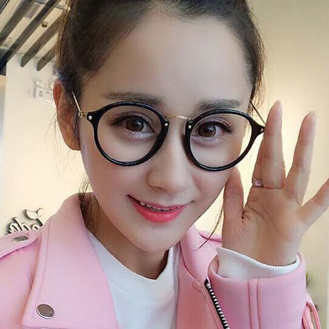 73f19c7d66 Round Frame Men Women Anti-blue Reading Glasses Hot sale Vintage Female  Glasses Frame Computer Clear Glasses Spectacle Frame