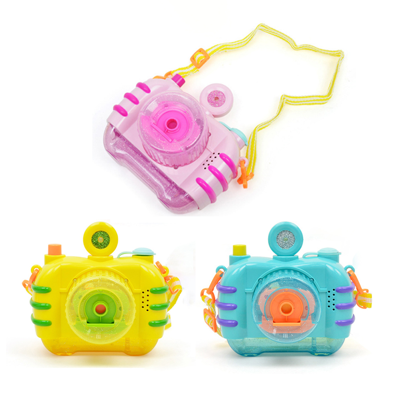 Funny Toys Electric Bubble Camera With Light Music Blowing Bubbles Toys Kids Children Indoor Outdoor Parties