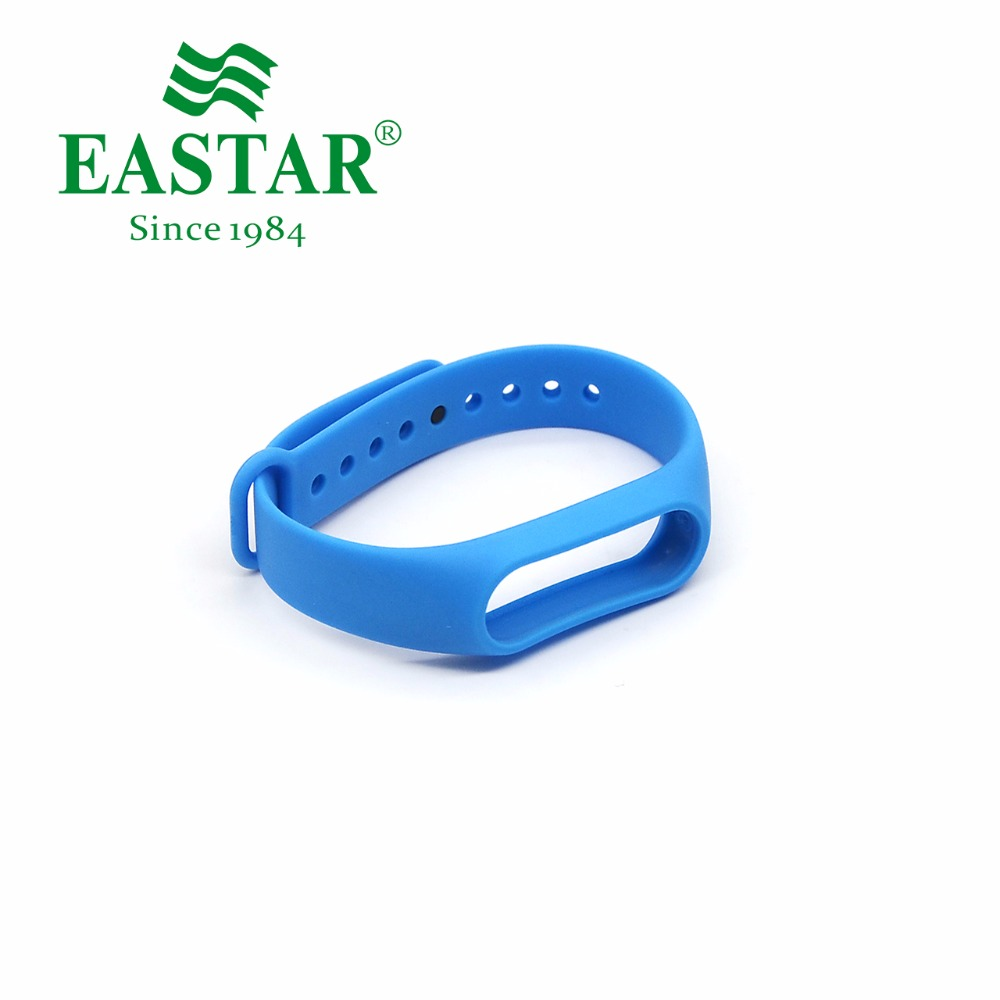 Eastar Smart Watch Strap For XiaoMI Band Accessories Colorful Replacement Wristbands Dark Blue Silicone Band For Mi Band 2 jansin 22mm watchband for garmin fenix 5 easy fit silicone replacement band sports silicone wristband for forerunner 935 gps