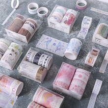7pcs/Set washi tape decorado vintage kawaii wide cute sakura decorative paper 2m stickers scrapbooking papelaria