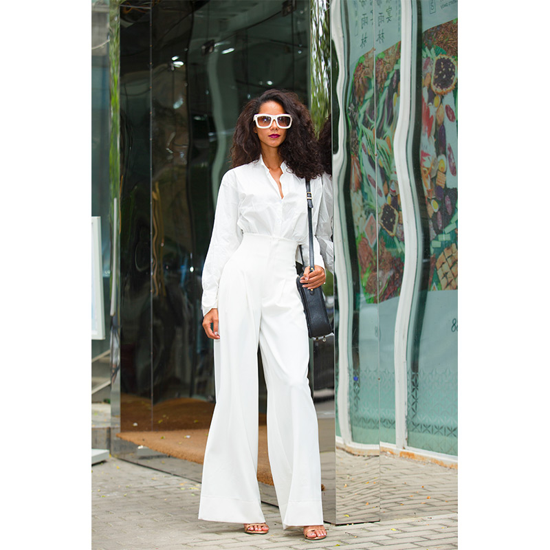 2019 Rushed Cotton Loose Vadim Trousers Women 2019 New For Commuter Style High Waist Long Wide Leg Pants Handsome Suit Women in Pants amp Capris from Women 39 s Clothing