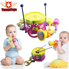 5pcs Baby Concerts Educational Baby Kids Roll Drum Musical Instruments Band Kit Children Toy Baby Kids Gift
