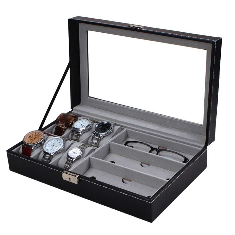 Multifunctional PU Watch Glasses Display Box Glass Window Jewelry Storage Organizer amal owis and yasser el tahlawy residues and wastes biomass in egypt