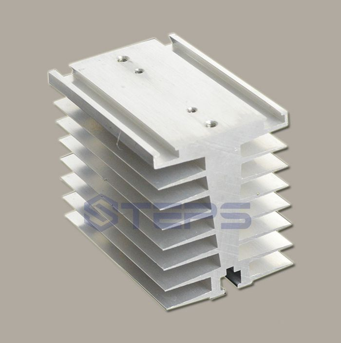 SSR solid state relay radiator SCR module Non-contact relay aluminum heat sink thermal seat 100*70*80 25a ac 380v solid state relay voltage resistance regulator w aluminum heat sink