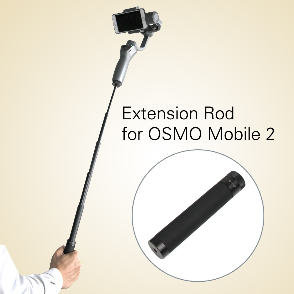 New Extension Stick Rod pole Scalable Holder for DJI OSMO Mobile 2 Handheld Smartphone Gimbal Accessories Free Shipping