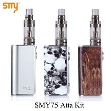 Electronic Cigarette Mini Box Mod Kit Electronic Hookah Pen SMY 75 for SMOK Atta Tank E-cigarette Vaporizer Vape Mod X1021