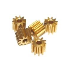 5PCS/LOT 0.5M-10 Teeth Metal Copper Precision Micro Model Motor Small Modulus Gear---hole:2mm 5pcs pack copper spur gear 0 5 module teeth 16 18 19 inner hole 3mm 3 17mm 4mm 5mm
