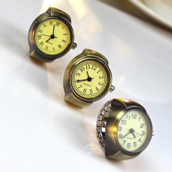 Vintage נשים טבעת שעון למתוח קוורץ אצבע רומי מספרי שעונים תכשיטי יוניסקס שעון מתנות למאהב @ 17 TT @ 88