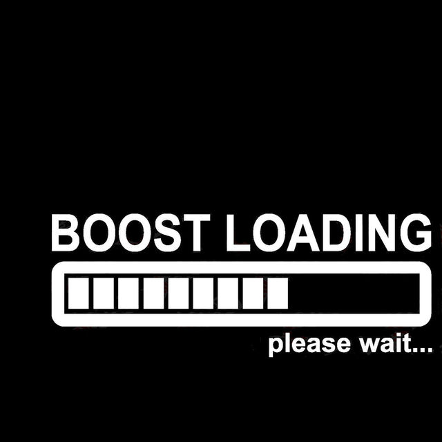 Funny boost loading please wait vinyl car wall window sticker decal electric quantity battery indicator pattern