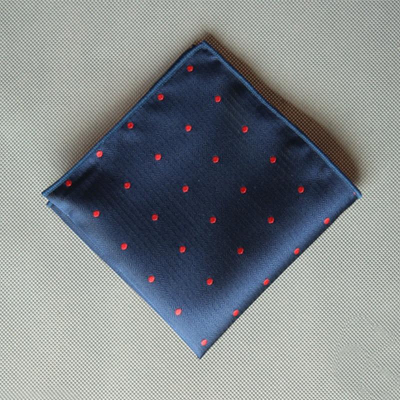23*23CM Cotton Handkercheifs Fashion Causal Polka Dots Pocket Square Black Printed Hankies For Wedding Party Hanky