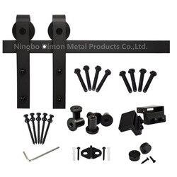 Frete grátis roda de suspensão da Dimon venda quente agradável preto barato América estilo deslizante hardware porta do celeiro de madeira DM-SDU 7201