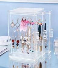 Transparent dustproof jewelry display rack props earrings