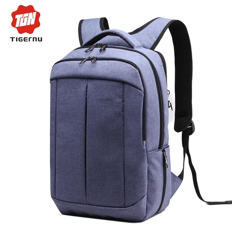 ФОТО Women Backpack Bag for 17 Inch Notebook Multifunction Famale Mochila Fashion Ladies Bag pack Tigernu Brand School Bags for Men