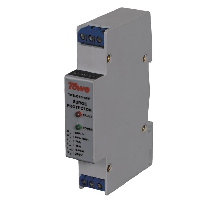 TOWE AP-D10-230V 230V single phase low-voltage power protect Imax:7KA,Un:230V Up:1000V surge protective device SPD towe ap rj45 16e 1000m poe network lightning protect 19 cabinet surge protection