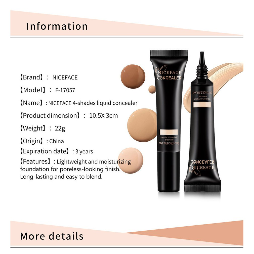 Women Facial Makeup Foundation Base Liquid Cream Long Lasting Waterproof Moisturizer Face Cosmetic Concealer in Concealer from Beauty Health