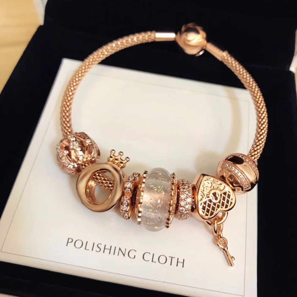 Original 100% 925 Silver Charm High Quality Luxury rose gold Series Women Charm Copy Jewelry For Women 1:1 With Logo Bracelet Original 100% 925 Silver Charm High Quality Luxury rose gold Series Women Charm Copy Jewelry For Women 1:1 With Logo Bracelet