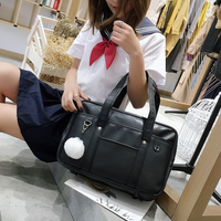 College Japanese JK Uniform Orthodox Handbag Totes Anime Cosplay Shoulder Bag PU Portable School Bag Lolita Students Comic Show