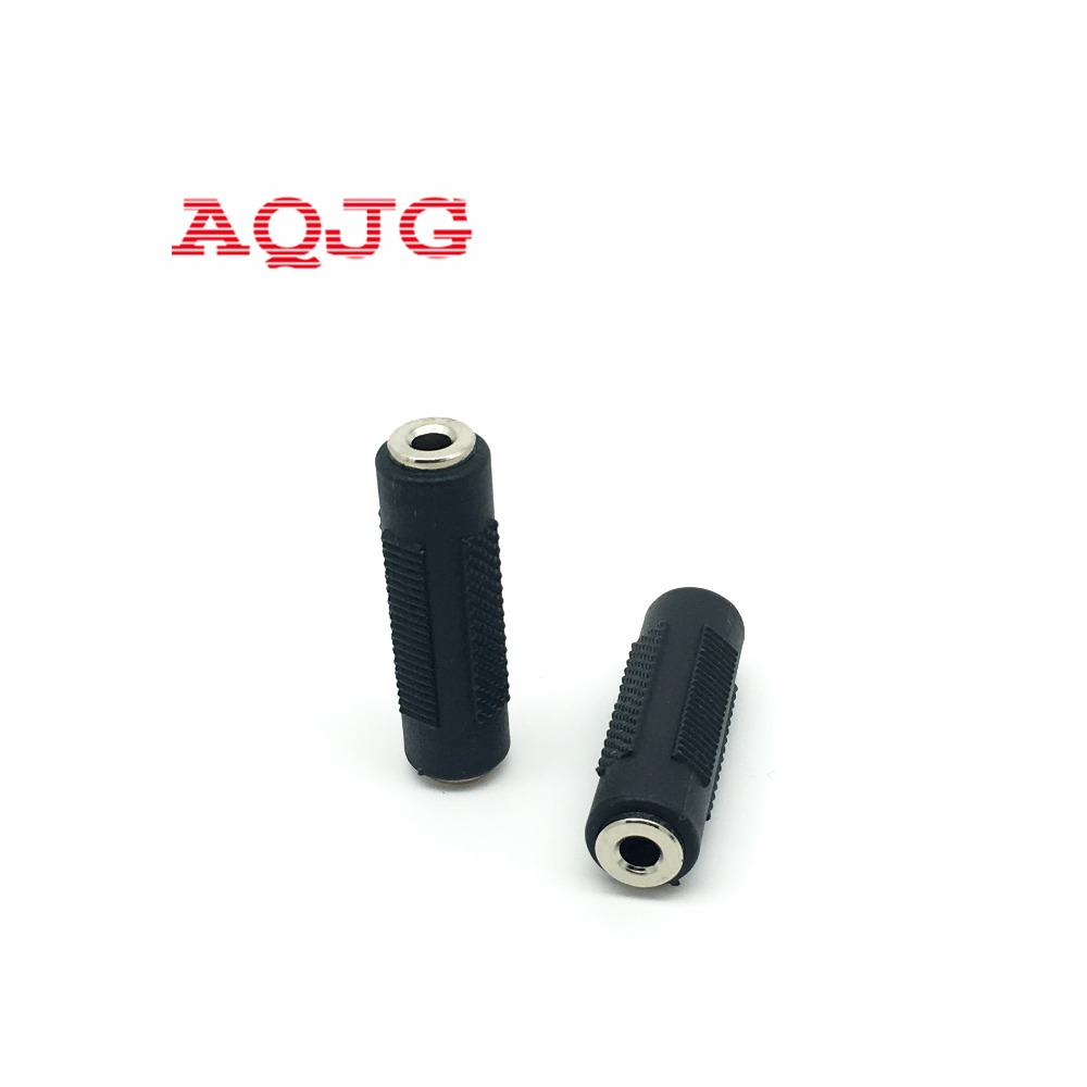 Gold Plated 3.5 mm Stereo Coupler Female to Female Jack AQJG gold 2 5 mm male to 3 5 mm female audio stereo adapter plug converter headphone jack wholesale aqjg