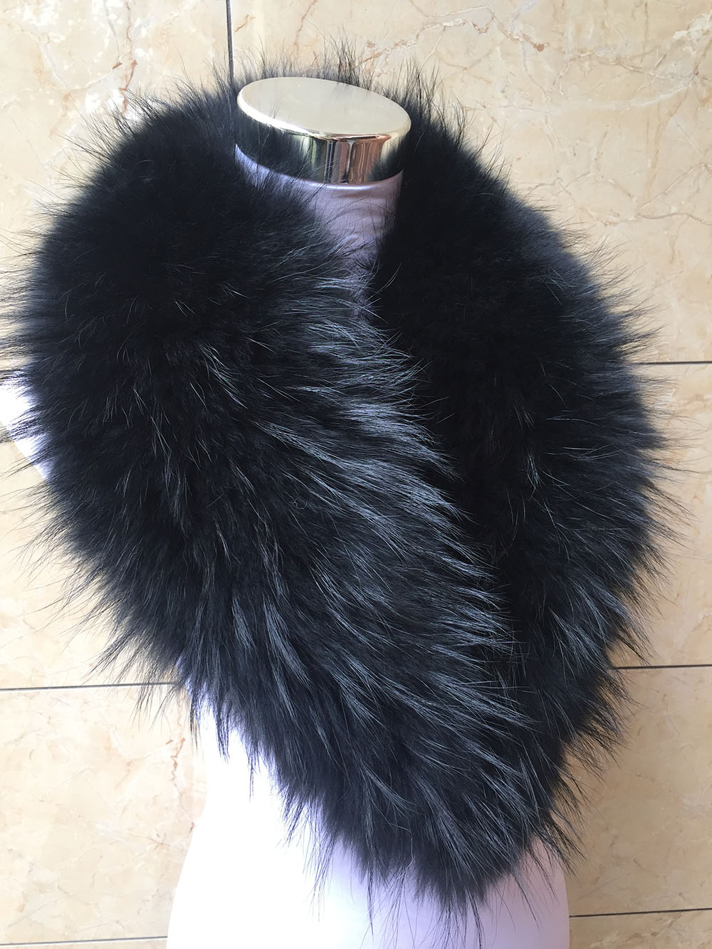 50cm Women Real Vulpes Lagopus Fox Fur Collar Real Fur Scarf Winter Warmer Neck
