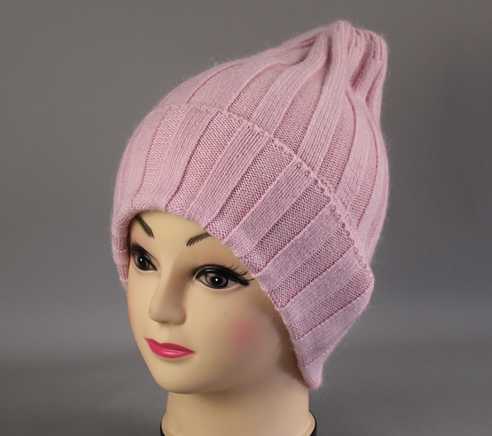 Thick Winter Hats For Women angora Beanies Hat knitted wool warm Beanie With Back Opening 2018 New (10)