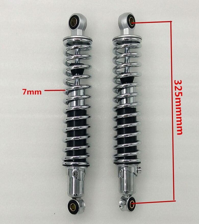 Chrome CG125 300mm /305mm/310mm/325mm 7mm spring Rear Shocks Absorbers for  Honda  CX500/Yamaha/Suzuki/Kawasaki/Dirt bikes/ATV-in Falling Protection from Automobiles & Motorcycles    2