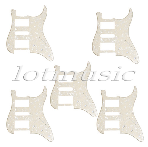 5 Yellow Pearl 3 Ply Guitar Pickguard For Electric Replacement HSH Pickup guitar single coil pickup mounting ring 3 ply red pearl celluloid