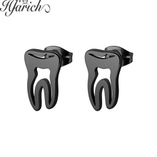 Hfarich 2019 New Fashion Popular Female Jewelry Love Tooth Shape Earrings Charming Cute Ear For Women Girls Birthday Party Gifts