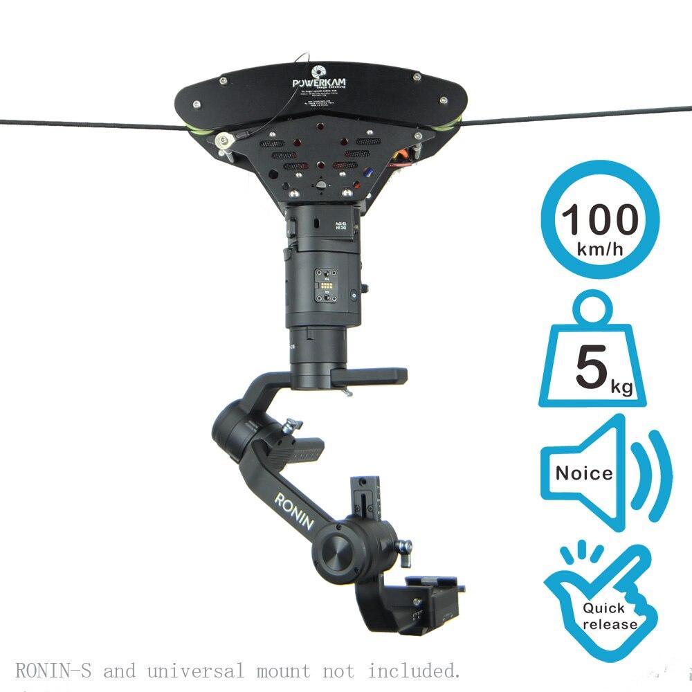 Système de câble T4 haute vitesse pour la réalisation de films avec une vitesse maximale de 100 km/h pour une charge utile maximale de 5 kg pour RONIN S, RONIN, RONIN M, RONIN MX