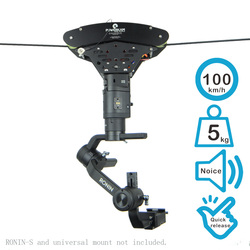 T4 high speed cablecam system for filmmaking with max 100km/h speed for max 5 kg payload for RONIN S, RONIN,RONIN M,RONIN MX