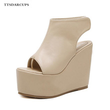 Sandals Female Summer 2019 New Roman Shoe Muffin Thick-soled Slope-heeled Shoes 34-39 yards High Waterproof Table 6CM
