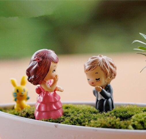 Gnome Garden: Sale~2 Pcs/Cartoon Couple /fantasy Miniatures/fairy Garden