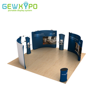 6m*6m Trade Show Booth Size Portable Aluminum Frame With Tension Fabric Printed Graphics,Advertising Pop Up Banner Display Stand