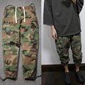 Hip Hop Mens Military Tactical Cargo Pants Casual Fashion Kanye West Camouflage Camo Joggers
