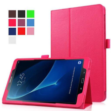 Colorful Funda Stand PU Leather Case for Samsung Galaxy Tab A A6 10.1 T585 T580 Slim Folding Flip Stand Cover For SM-T580 T580N high quality smart flip case for samsung galaxy tab a 10 1 2016 t585 t580 sm t580 t580n case cover gift screen protector