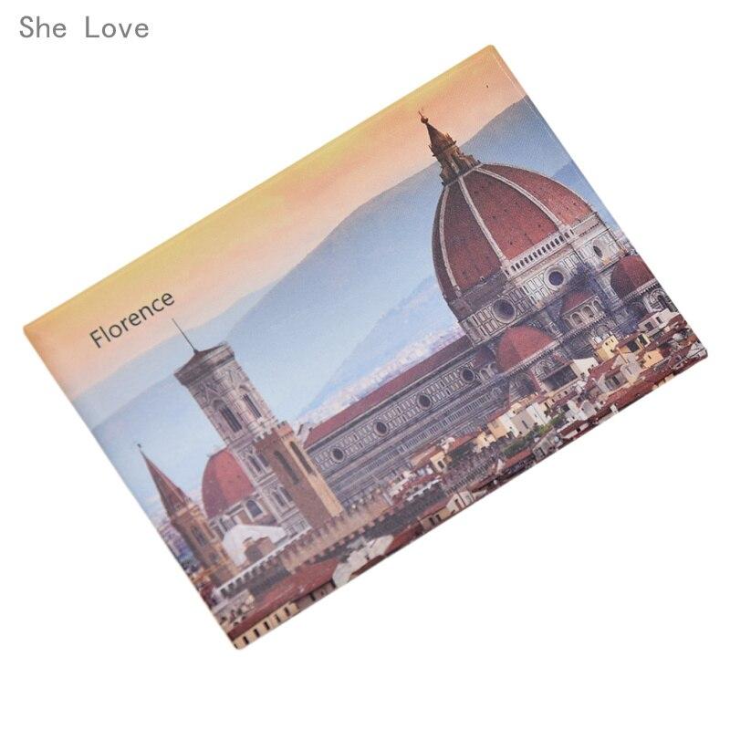 She Love Italy Florence CIty Scene Tourist 3D Fridge Magnet Decor Refrigerator Sticker Travel Gift