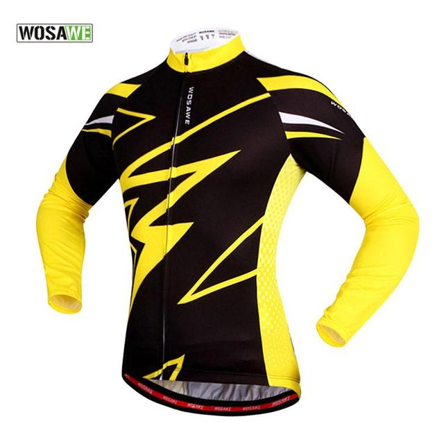 WOSAWE Men Bike Cycling Clothing Riding Team Outdoor Sports Long Sleeve Women  Jersey MTB Sportswear Clothes Jersey Shirt Top f949ef307