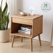 Louis Fashion Coffee Tables Wood Wax Paint-free Bedside Cabinet White Oak Log Storage Simple Bedroom Full Mini Magazine(China)