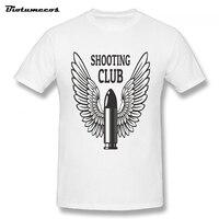 חם זכר הסיטונאי חולצות T מועדון ירי כדור עם כנפי בגדי מותג החדש מודפס שרוול קצר כותנה MTWQ064