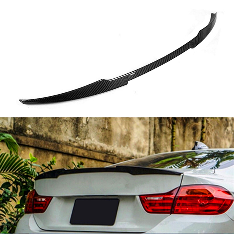 New 4D Car Trunk Boot Spoiler Wing Lid Lip-M4 Style Lid Spoiler Wing Lip Wing Spoiler Carbon Fiber for BMW 428i 435i 2014-2017