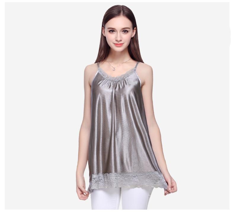 100% argent fibre super protection dame fronde robe, EMF blindé vêtements. ordinateur, téléphone radioprotection halter